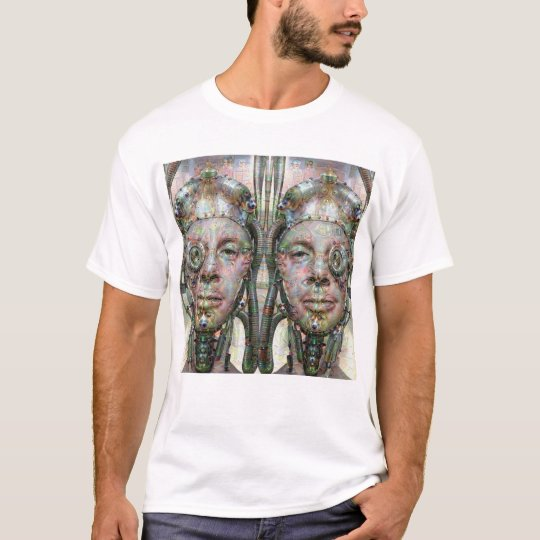 Cybernetic Siamese Self Portrait by KLM T-Shirt