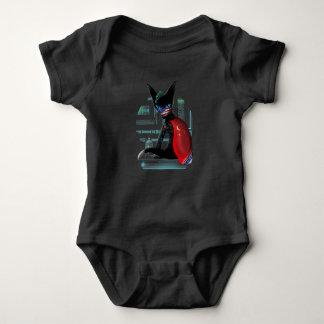 Cyberpunk Ninja Cat Baby Bodysuit