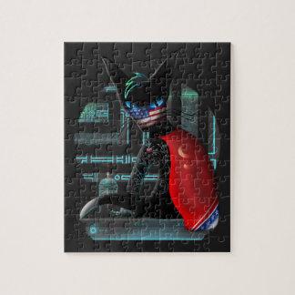 Cyberpunk Ninja Cat Jigsaw Puzzle