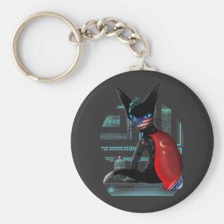 Cyberpunk Ninja Cat Keychain