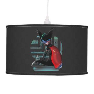 Cyberpunk Ninja Cat Pendant Lamp