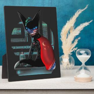 Cyberpunk Ninja Cat Plaque