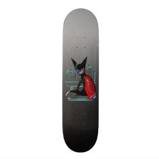 Cyberpunk Ninja Cat Skateboard Deck