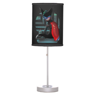 Cyberpunk Ninja Cat Table Lamp