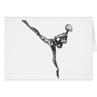 Cyborg Ballet in Arabesque Card