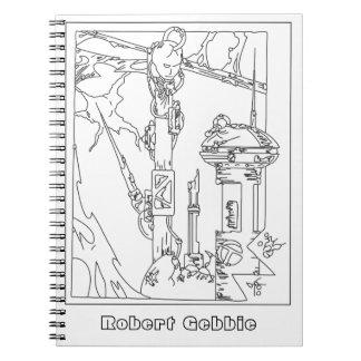 Cyborg Fantasy Techno Dream Spiral Notebook