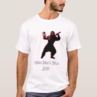 Cyborg Pirate Ninja Jesus T-Shirt