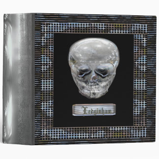 Cyborg Skull Customizable 3 Ring Binders