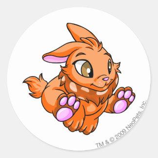 Cybunny Orange Classic Round Sticker