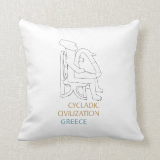 Cycladic Civilization Throw Pillow
