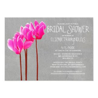 Cyclamen Bridal Shower Invitations