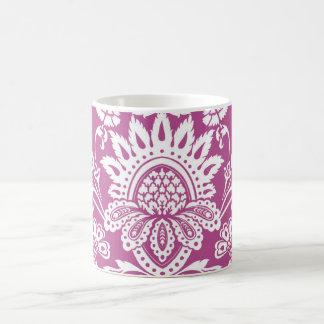 cyclamen damask mug