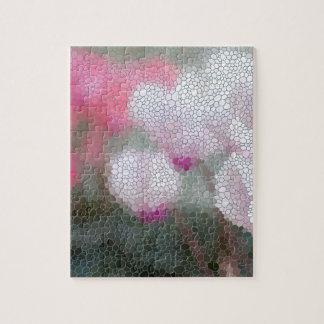 Cyclamen Flower Mosaic Puzzle