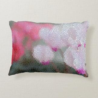 Cyclamen Flowers Mosai Decorative Pillow