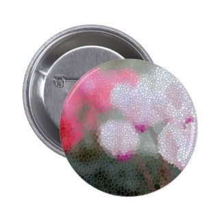 Cyclamen Flowers Mosaic 2 Inch Round Button