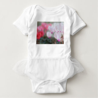 Cyclamen Flowers Mosaic Baby Bodysuit