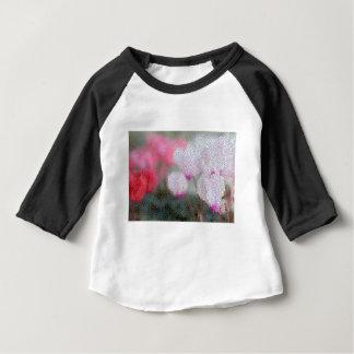 Cyclamen Flowers Mosaic Baby T-Shirt