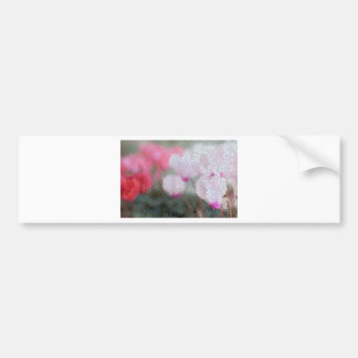 Cyclamen Flowers Mosaic Bumper Sticker