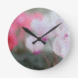 Cyclamen Flowers Mosaic Clocks