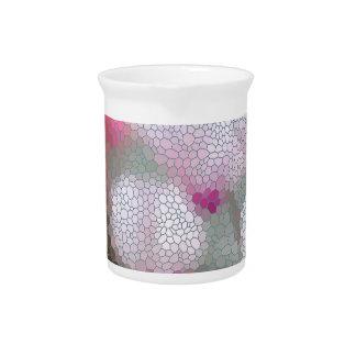 Cyclamen Flowers Mosaic Drink Pitchers