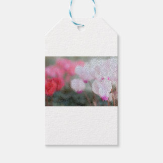 Cyclamen Flowers Mosaic Gift Tags