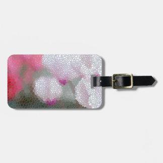 Cyclamen Flowers Mosaic Luggage Tag