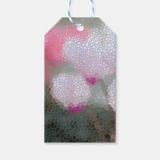 Cyclamen Flowers Mosaic Pack Of Gift Tags