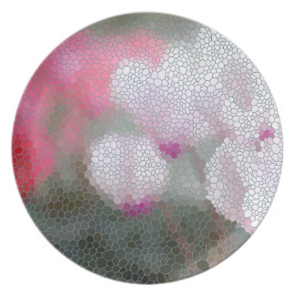 Cyclamen Flowers Mosaic Party Plates