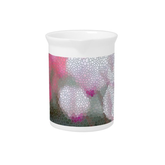 Cyclamen Flowers Mosaic Pitcher