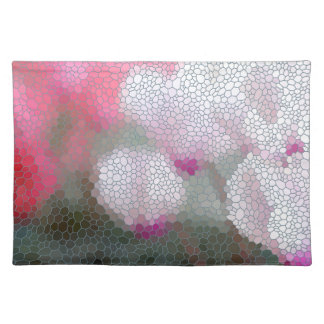 Cyclamen Flowers Mosaic Placemat