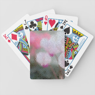 Cyclamen Flowers Mosaic Poker Deck