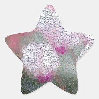 Cyclamen Flowers Mosaic Star Sticker