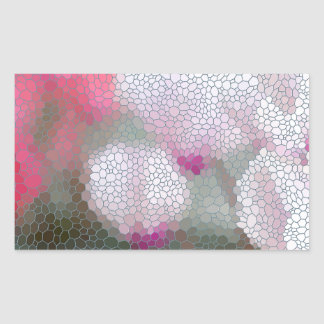 Cyclamen Flowers Mosaic Sticker