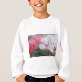 Cyclamen Flowers Mosaic Sweatshirt