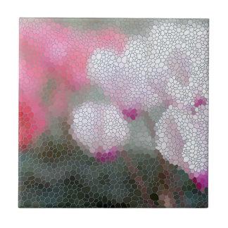 Cyclamen Flowers Mosaic Tile