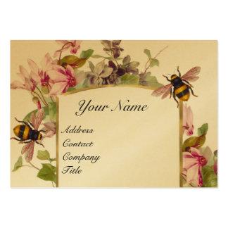 Cyclamens,Honey Bees,Beekeeper,Beekeeping Gold Large Business Card