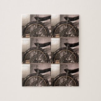 Cycle Bicycle art graphic deco template add text Jigsaw Puzzle