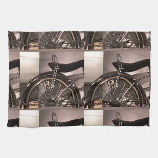 Cycle Bicycle art graphic deco template add text Kitchen Towel