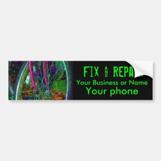 cycle, bike fix and repair bumper sticker