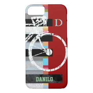 cycle/cycling , stripes and name iPhone 7 case