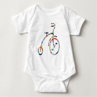 CYCLE :  Exercise, Games, Fitness, bicycle Baby Bodysuit