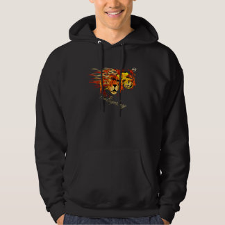 Cycle like a lion on Fire Plano Texas Cycling Hoodie