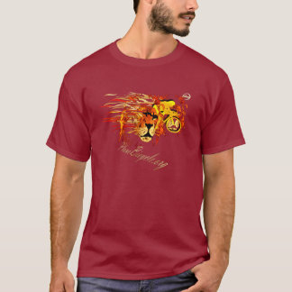 Cycle like a lion on Fire Plano Texas Cycling T-Shirt