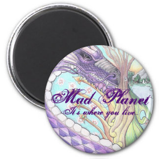 Cycle of Life Dragon Drawing 2 Inch Round Magnet