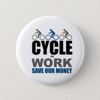 Cycle To Work 2 Inch Round Button