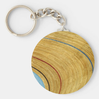 Cycle track abstract keychain
