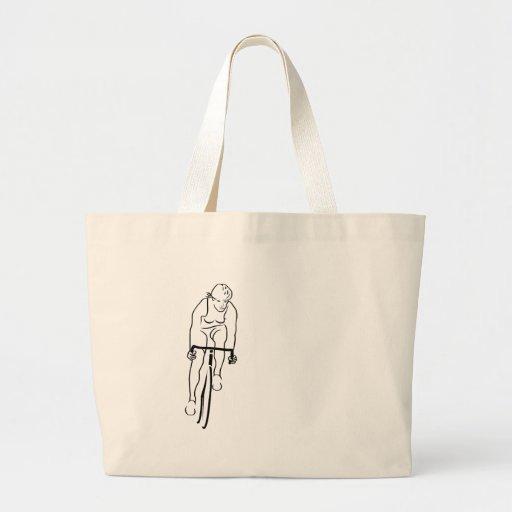 Cycle Woman Tote Bag