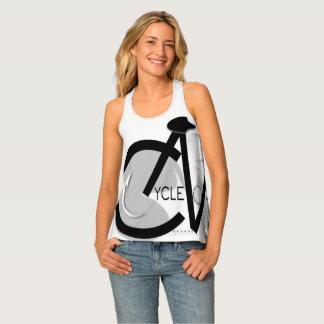 CycleNuts Women's Racerback Black & Gray Top