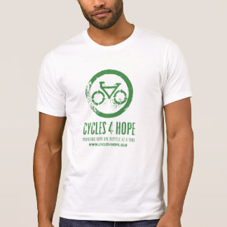 Cycles 4 Hope White/Green Destroyed T T-Shirt