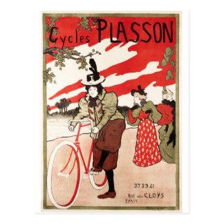 Cycles de Plasson French Vintage Poster Postcard